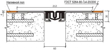 Монтаж профиля для деформационного шва АКВАСТОП тип ДШК-60/0