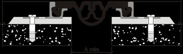 Зазор для деформационного шва АКВАСТОП тип ДШН-85/30