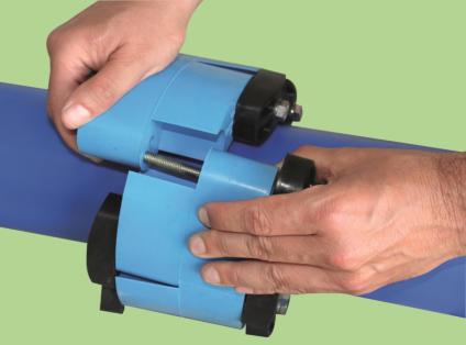 Уплотнитель для труб гидроизоляция проходки Прессио (Гидромикс) - монтаж Прессио или Линксила на трубу Шаг 1