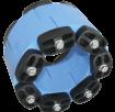 Звеньевой уплотнитель кольцевых пространств Прессио-Элементс тип B - для труб из полимеров (Полиэтилен, ПВХ, полипропилен)  (Линк-Сил)