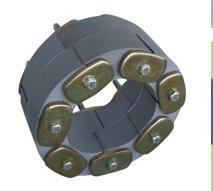 Звеньевой уплотнитель кольцевых пространств Прессио-Элементс тип Т - термостойкий силиконовый  (Линк-Сил)