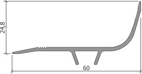Профиль для деформационного шва ПСА-70