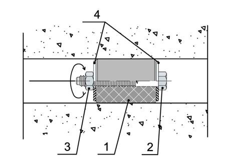 Герметизация отвестия от опалубки Дисклудер (АКВАСТОП)